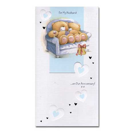 Husband Anniversary Forever Friends Card