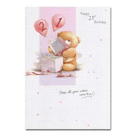 21st Birthday Forever Friends Card
