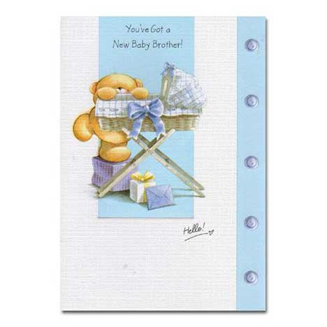 New Brother Forever Friends Card