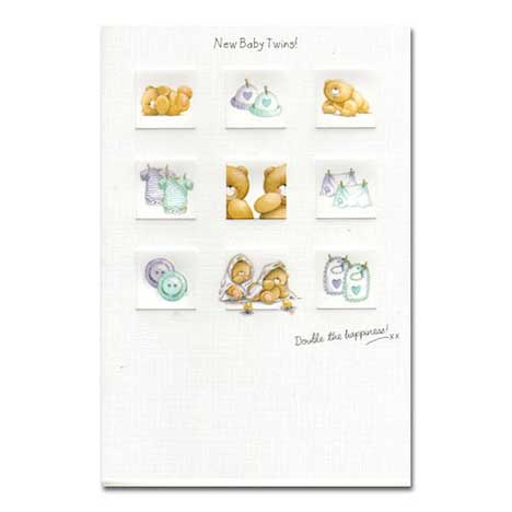 Baby Twins Forever Friends Card