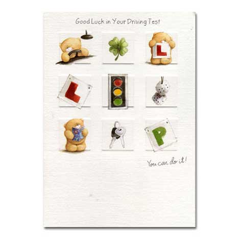 Driving Test Good Luck Forever Friends Card