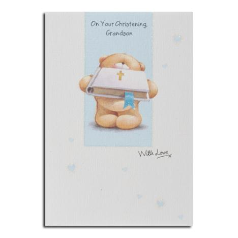 Grandson Christening Forever Friends Card