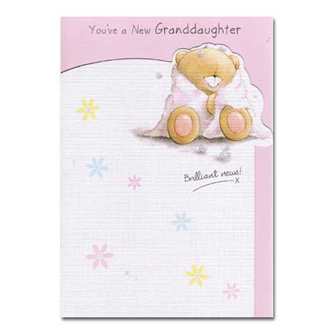 Birth of Granddaughter Forever Friends Card