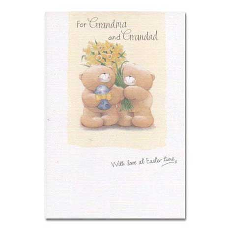 Grandma and Grandad Forever Friends Easter Card
