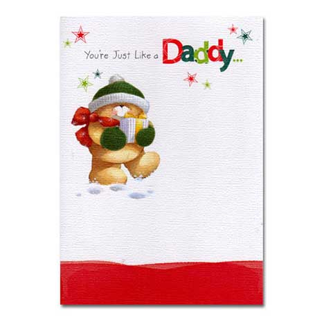 Like a Daddy Christmas Forever Friends Card