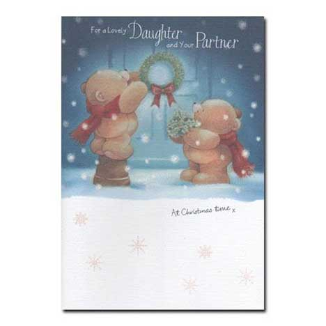Daughter and your Partner Forever Friends Christmas Card