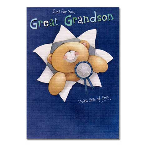 Great Grandson Birthday Forever Friends Card