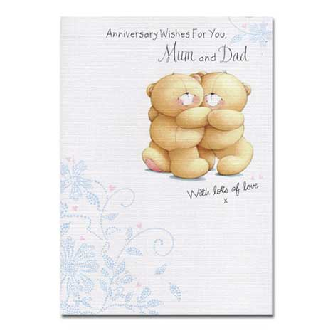 Mum & Dad Anniversary Forever Friends Card