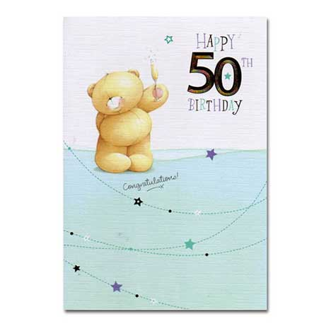 50th Birthday Forever Friends Card
