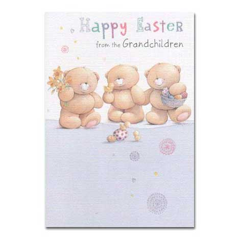 Happy Easter from Grandchildren Forever Friends Card