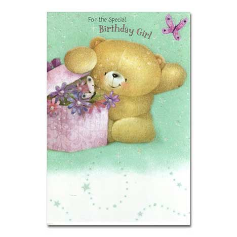 Peeking in Present Birthday Forever Friends Card
