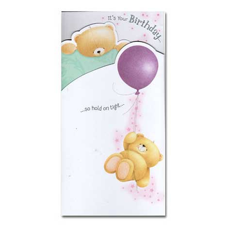 Balloon Birthday Forever Friends Card