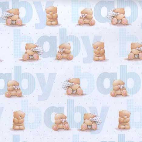 Baby Blue Forever Friends Gift Wrap