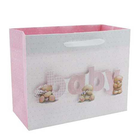 Baby Girl Pink Forever Friends Gift Bag