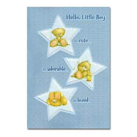 New Baby Boy Forever Friends Card