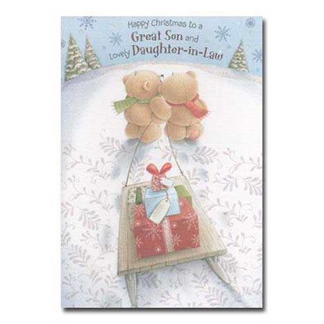 Son and Daughter-in-Law Christmas Forever Friends Card