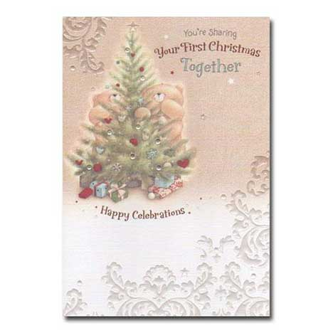 1st Christmas Together Forever Friends Card