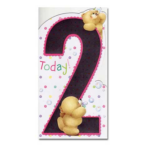2nd Birthday Forever Friends Card