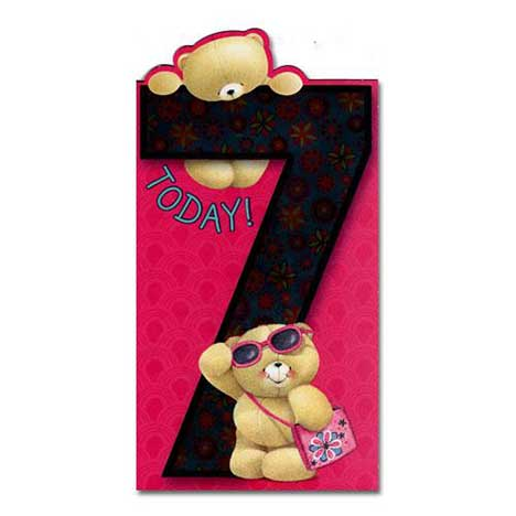 7th Birthday Forever Friends Card