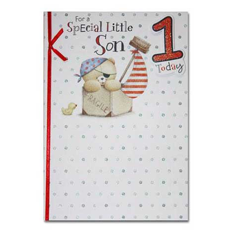 Son 1st Birthday Forever Friends Card