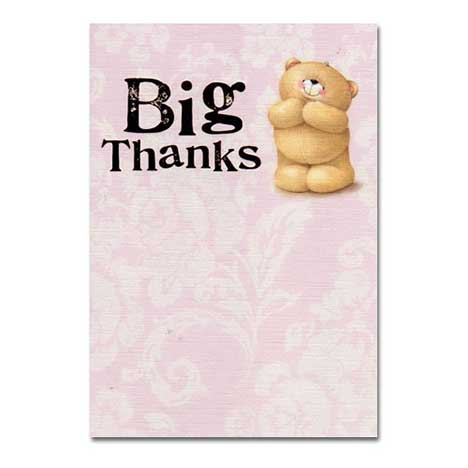 Big Thanks Forever Friends Card
