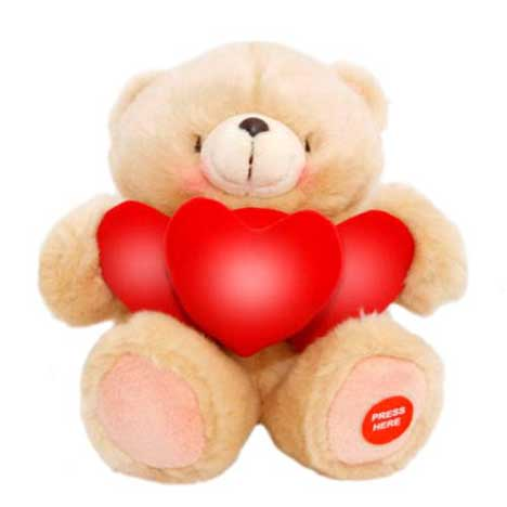 "10"" With Light Up Hearts Forever Friends Bear"