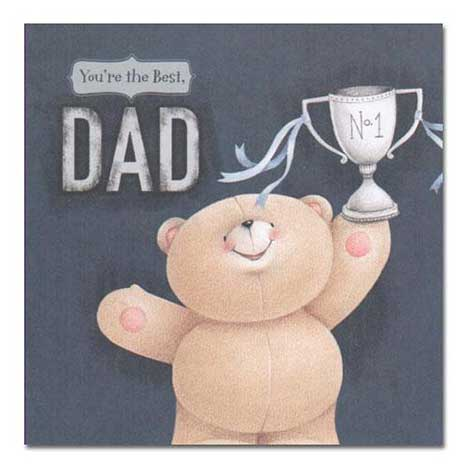 Best Dad Forever Friends Fathers Day Card