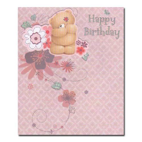 Happy Birthday Pink Forever Friends Card