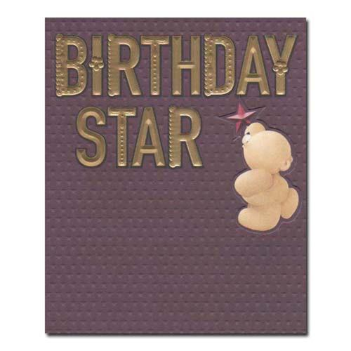 Birthday Star Forever Friends Card