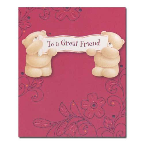 Great Friend Birthday Forever Friends Card