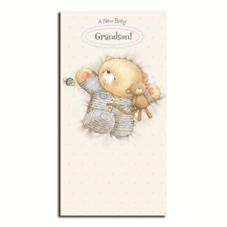 New Baby Grandson Forever Friends Card