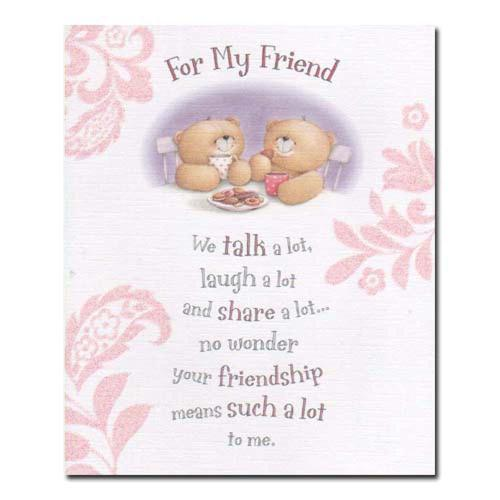For My Friend Forever Friends Card