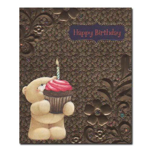 Happy Birthday Gold Forever Friends Card