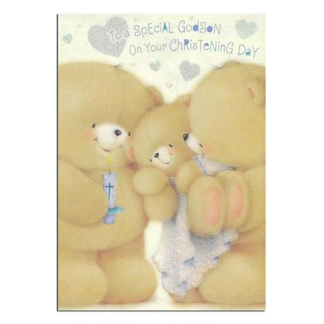 Godson Christening Day Forever Friends Card