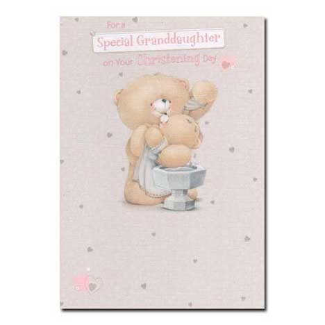 Special Granddaughter on Christening Day Forever Friends Card