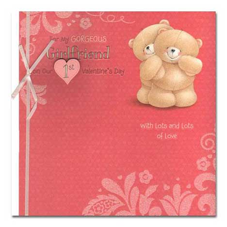 Girlfriend 1st Forever Friends Valentines Day Card