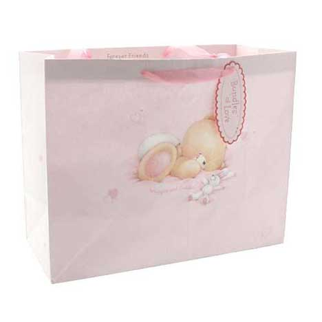 Large Baby Girl Forever Friends Gift Bag