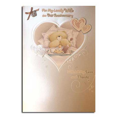 Wife Anniversary Forever Friends Luxury Card