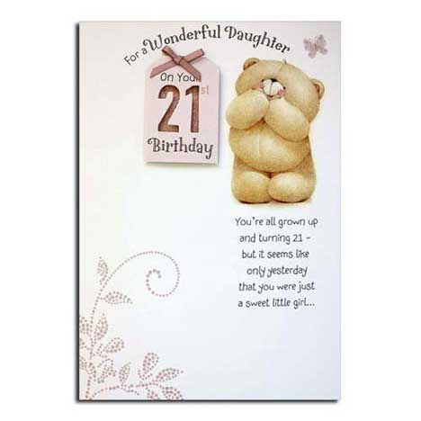 Daughters 21st Birthday Forever Friends Card