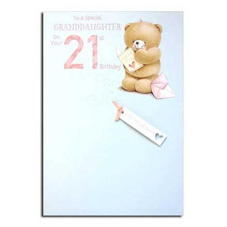 Granddaughters 21st Birthday Forever Friends Card