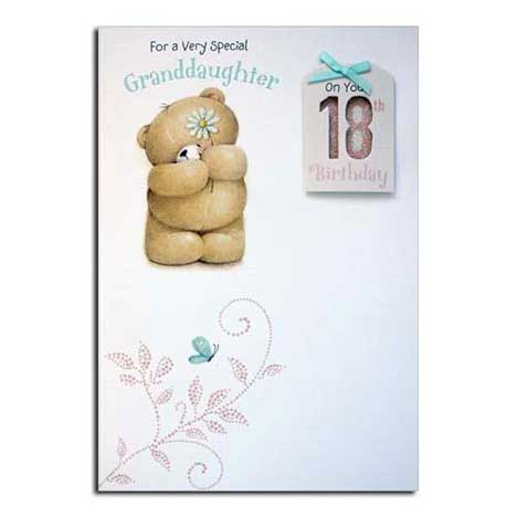 Granddaughters 18th Birthday Forever Friends Card