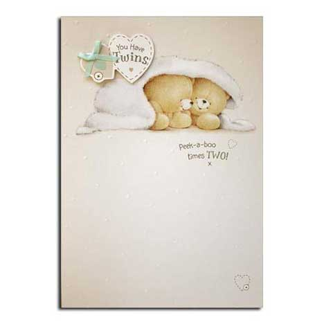 Birth of Twins Forever Friends Cards