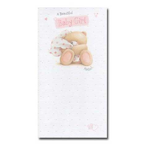 Beautiful Baby Girl Forever Friends Card