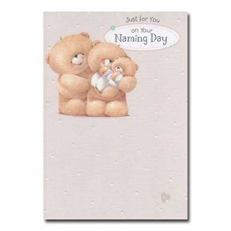 Babys Naming Day Forever Friends Card