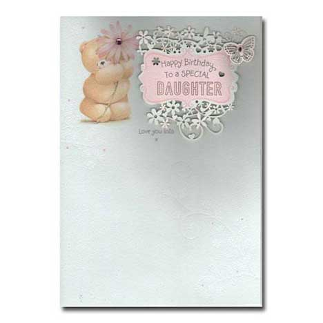 Special Daughter Birthday Forever Friends Card