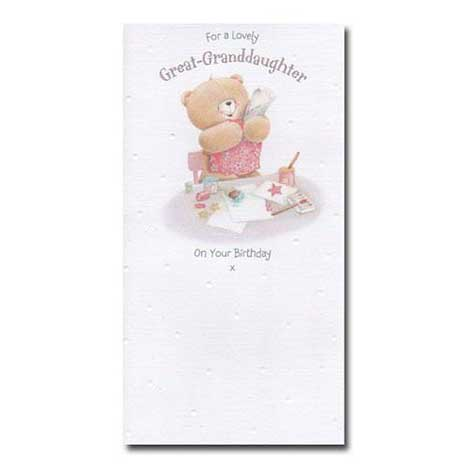 Lovely Great-Granddaughter Birthday Forever Friends Card