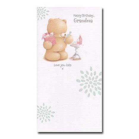 Happy Birthday Grandma Forever Friends Card