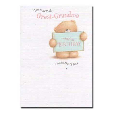 Special Great-Grandma Forever Friends Birthday Card