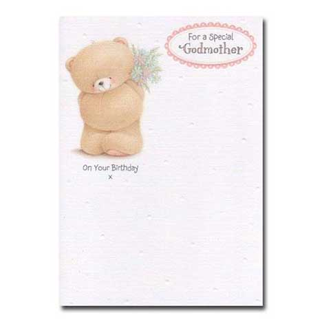 Special Godmother Birthday Forever Friends Card