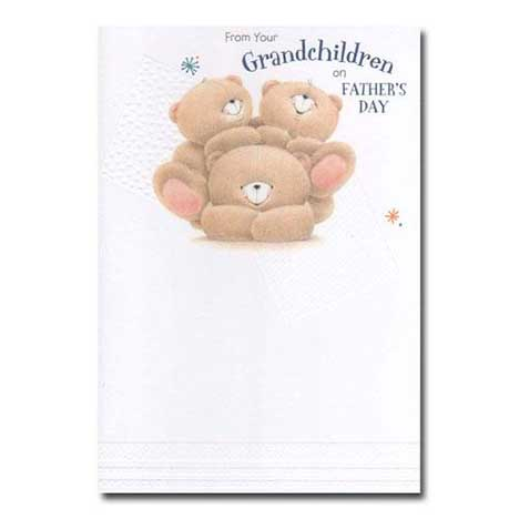 From Your Grandchildren Forever Friends Fathers Day Card